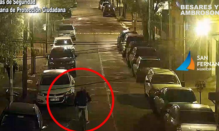 Gracias a las Cámaras, fueron detenidos dos hombres por el robo de una bicicleta en San Fernando