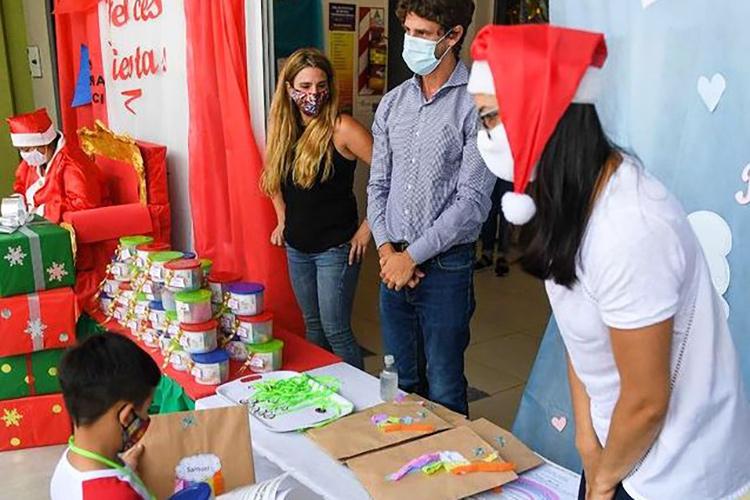 Juan Andreotti participó de festejos de fin de año en instituciones educativas municipales