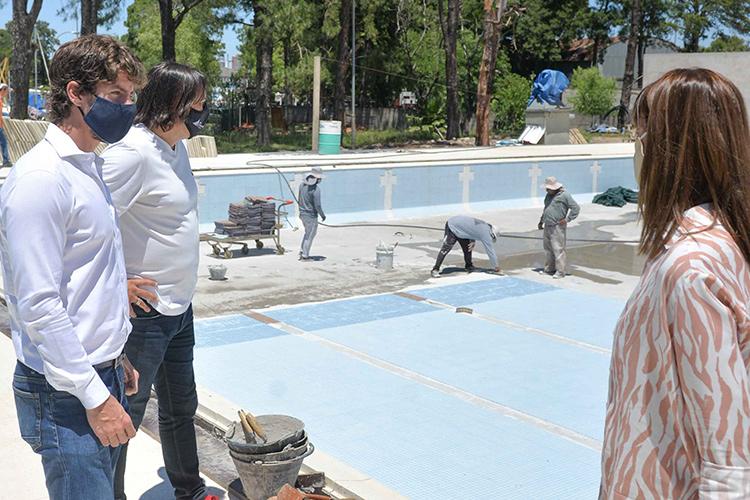 Juan Andreotti supervisó la última etapa de modernización de la pileta olímpica del Poli N°3