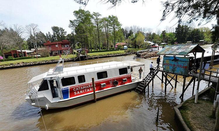 En Febrero, el Catamarán Sanitario municipal brindará atención médica en más puntos del Delta de Tigre
