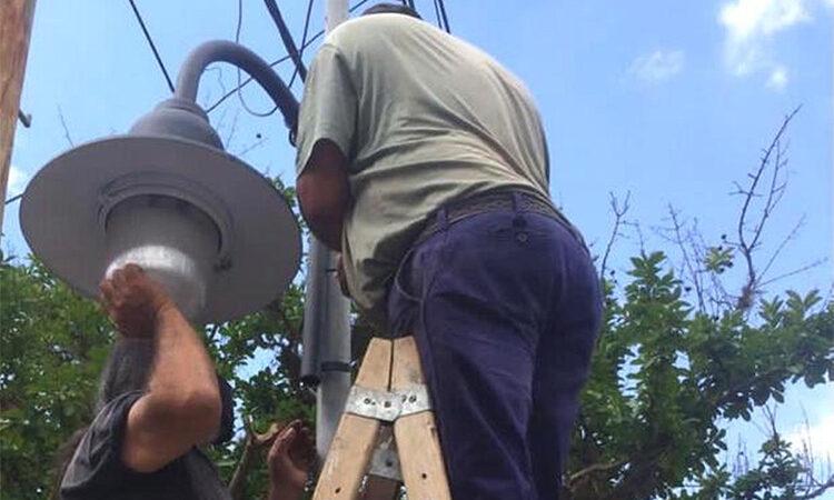 El Municipio instala más alumbrado público en Don Torcuato