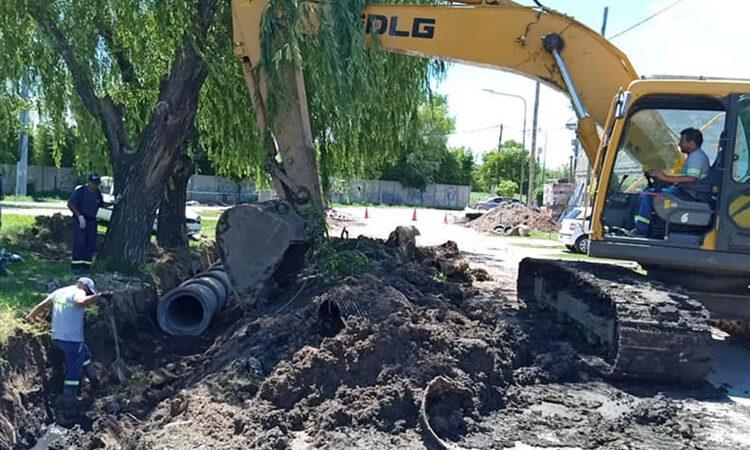 on inversión municipal, avanza una nueva obra hidráulica en General Pacheco