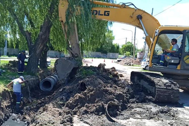 Con inversión municipal, avanza una nueva obra hidráulica en General Pacheco