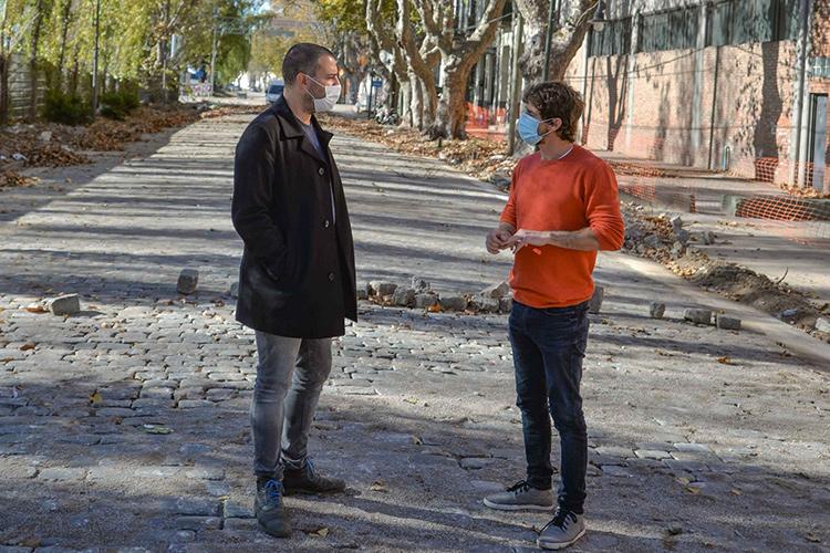 Juan Andreotti recorrió la obra de renovación de la zona de Canal
