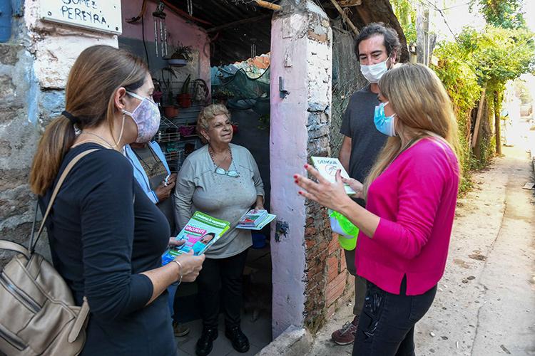 San Fernando completó un nuevo operativo de prevención de Covid-19 y Dengue en el barrio Alsina