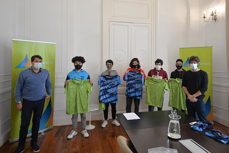 Juan Andreotti recibió a jóvenes tenistas que representarán a San Fernando en los Juegos Bonaerenses