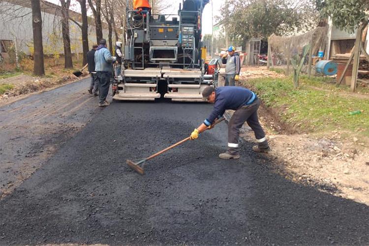 El Municipio de Tigre construye nuevos pavimentos en Benavídez