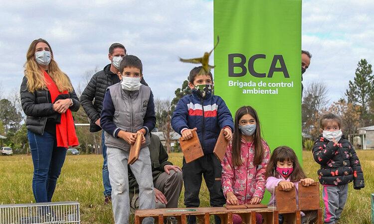 San Fernando participó de la liberación de un centenar de aves rescatadas en el Pueblo Nueva Esperanza