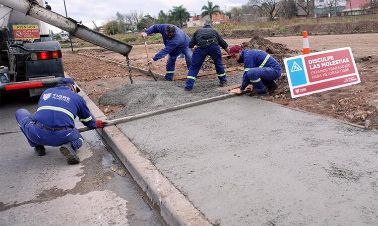 El Municipio de Tigre construye una nueva senda aeróbica en Benavídez