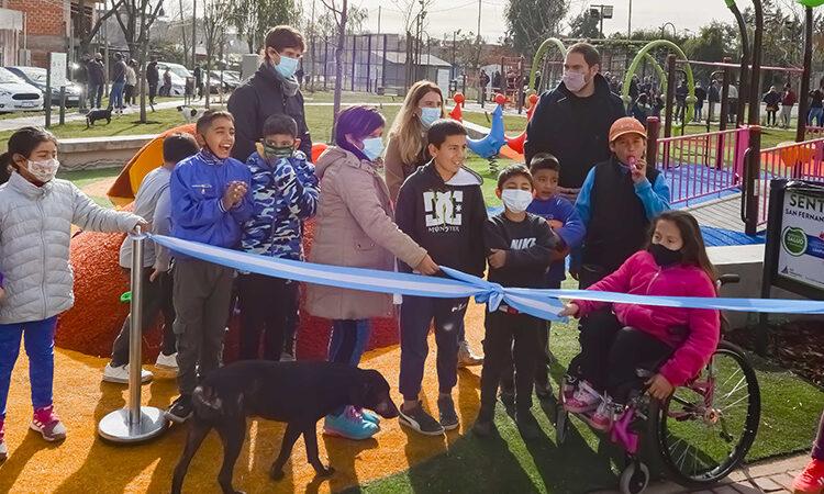 Juan Andreotti inauguró la nueva Plaza Barrio San Martín en San Fernando