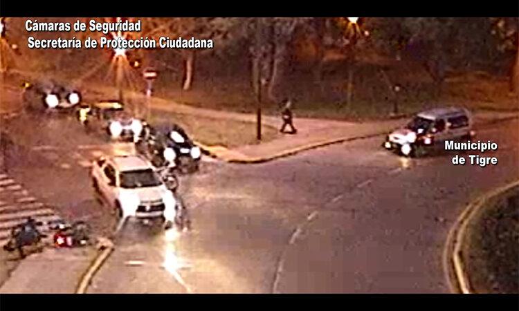 Seguridad vial: las cámaras del COT permitieron brindar asistencia inmediata en un accidente de tránsito