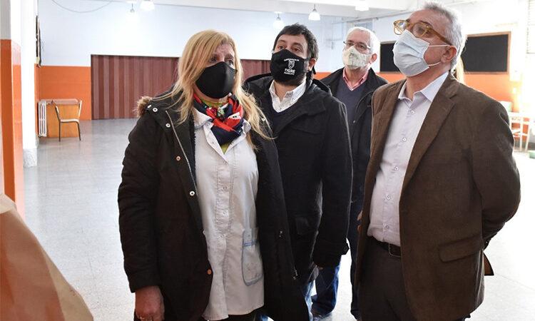 Julio Zamora supervisó obras de inversión municipal en la EP N° 6 de Tigre centro