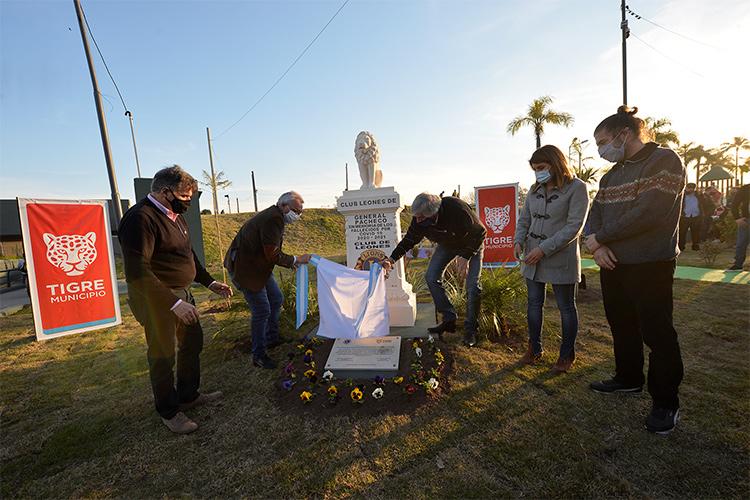 Julio Zamora acompañó al Club de Leones de General Pacheco en su homenaje a las víctimas de COVID-19