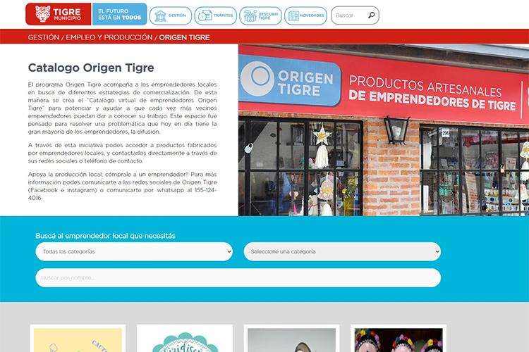 El Municipio de Tigre lanzó el Catálogo Virtual de Emprendedores Origen Tigre