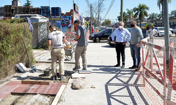 Julio Zamora monitoreó la remodelación integral sobre la Avenida de los Constituyentes