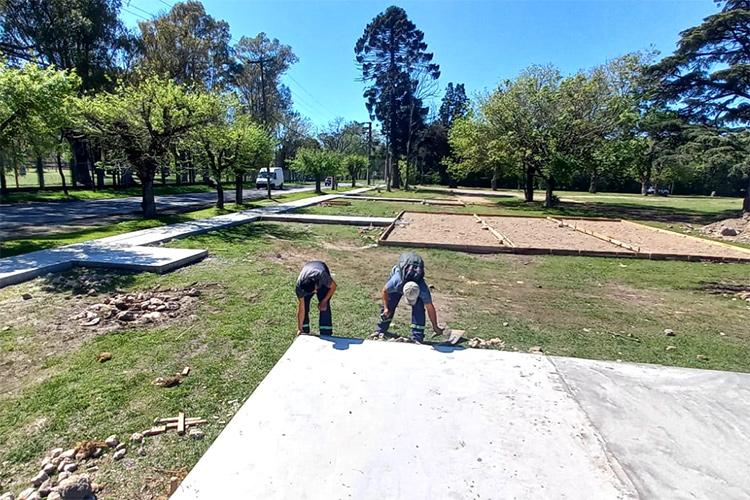 El Municipio de Tigre construye una nueva senda aeróbica en Ricardo Rojas