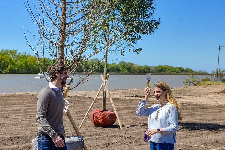 Juan Andreotti recorrió la ampliación del Parque Náutico: 2 hectáreas recuperadas frente al río