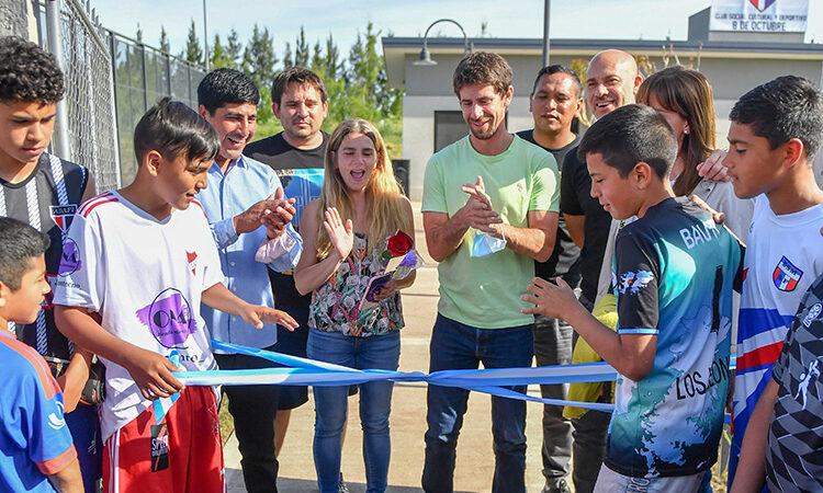 Juan Andreotti inauguró el ´Parque de la Esperanza´ donde antes había un zanjón