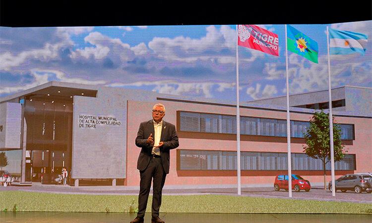 Julio Zamora presentó el proyecto del nuevo Hospital Municipal de Alta Complejidad de Tigre